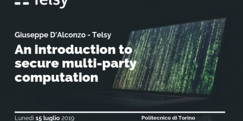 "Seminar – ""An introduction to secure multi – party computation"""
