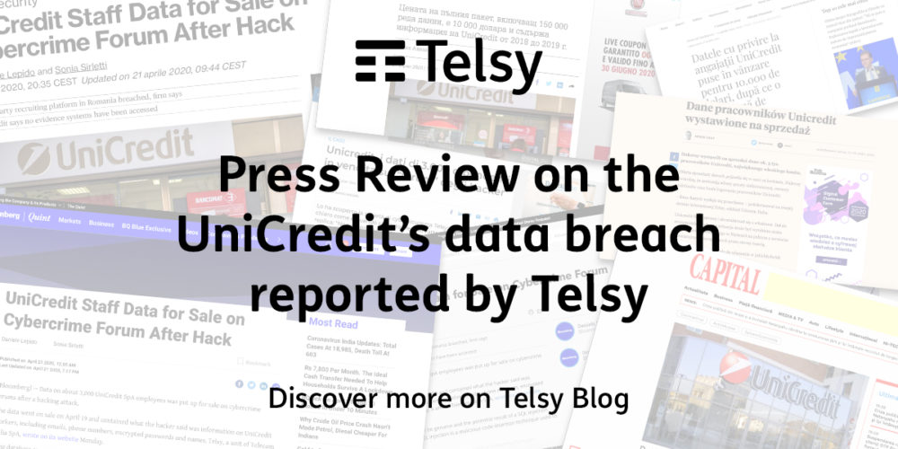 Telsy's report on UniCredit's data breach went viral worldwide